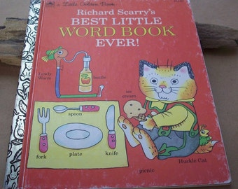 Richard Scarry's Best Little Word Book Ever  ~  1992 Little Golden Book