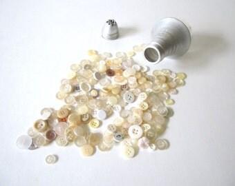 Vintage Salt Shaker Jar of Buttons