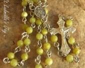 Dainty Lemon Jade Rosary (R135)