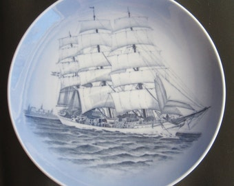 Vintage Royal Copenhagen The Training Ship Danish Porcelain Plate