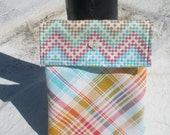 Rainbow Plaid and Arrowed Kindle Cover
