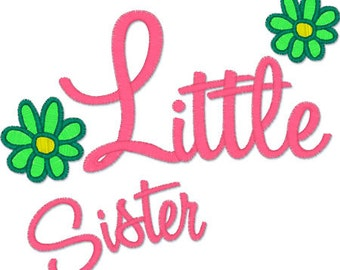 Instant download - little sister 015 - Machine Embroidery Design - digital embroidery design