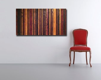 Inferno - Reclaimed Wood Art Sculpture in Provincial, Cherry, Ebony, and Golden Oak Wood Stains - Modern Wood Wall Art - Abstract Art