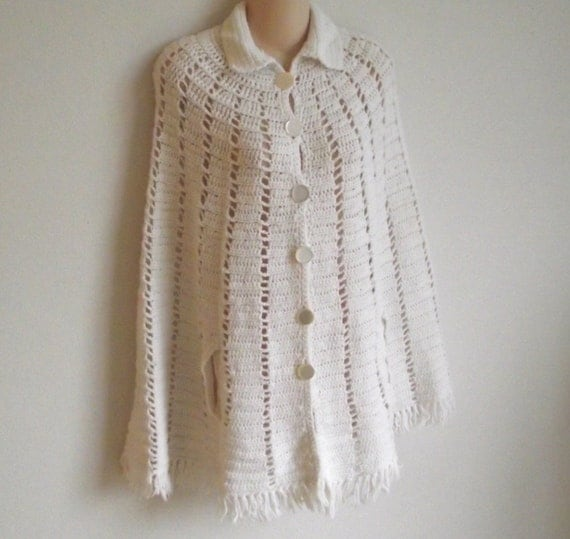 White Lacey Sweater 77
