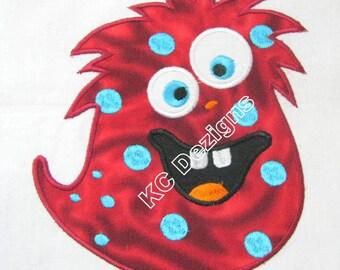 Cute Monsters 02 Machine Applique Embroidery Design - 4x4, 5x7 & 6x8