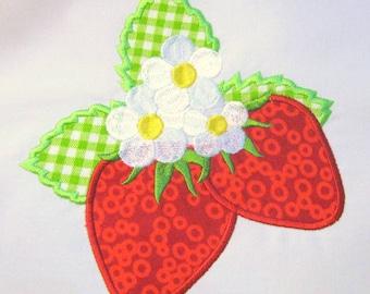 Strawberries 03 Machine Applique Embroidery Design - 4x4, 5x7 & 6x8