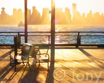 Lonsdale Quay Deck. North Vancouver, Vancouver skyline, Vancouver art, BC, British Columbia, Vancouver art, Burrard Inlet, Lower Mainland