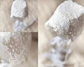Cotton Lace Trim,Crochet Lace Fabric Trim White Vintage Looking Floral Pattern Lace Trim for Costume Dress