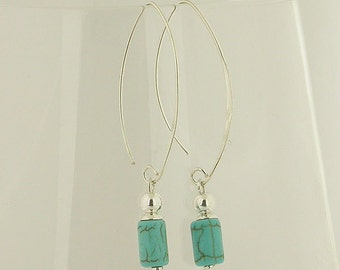 Turquoise Sterling Silver Earrings 30