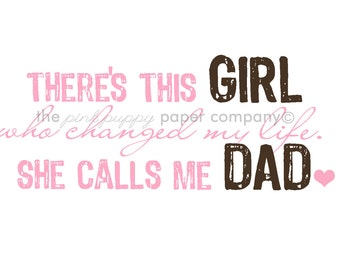 There's This Girl...5x7 nursery print (you choose colors)