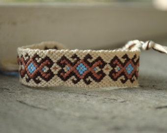 Brown and Turquoise Friendship Bracelet