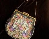 Vintage petit point embroidered evening bag