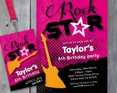 ROCK Star Party Printable Invitation & Backstage Pass - Print Your Own