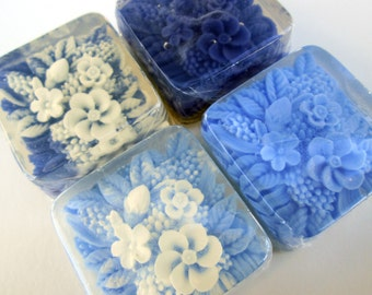 Floral Wedding Soap Favors, Frosted