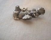 Vintage Pewter Indian Pot Pin