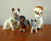 Collection of Vintage Dog Figurines
