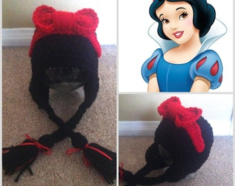Crochet Snow White Inspired Beanie/Hat