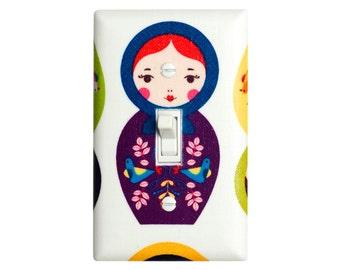 Matryoshka Doll Light Switch Plate Cover / Baby Girl Nursery / Children Kids Girls Room / Kitchen