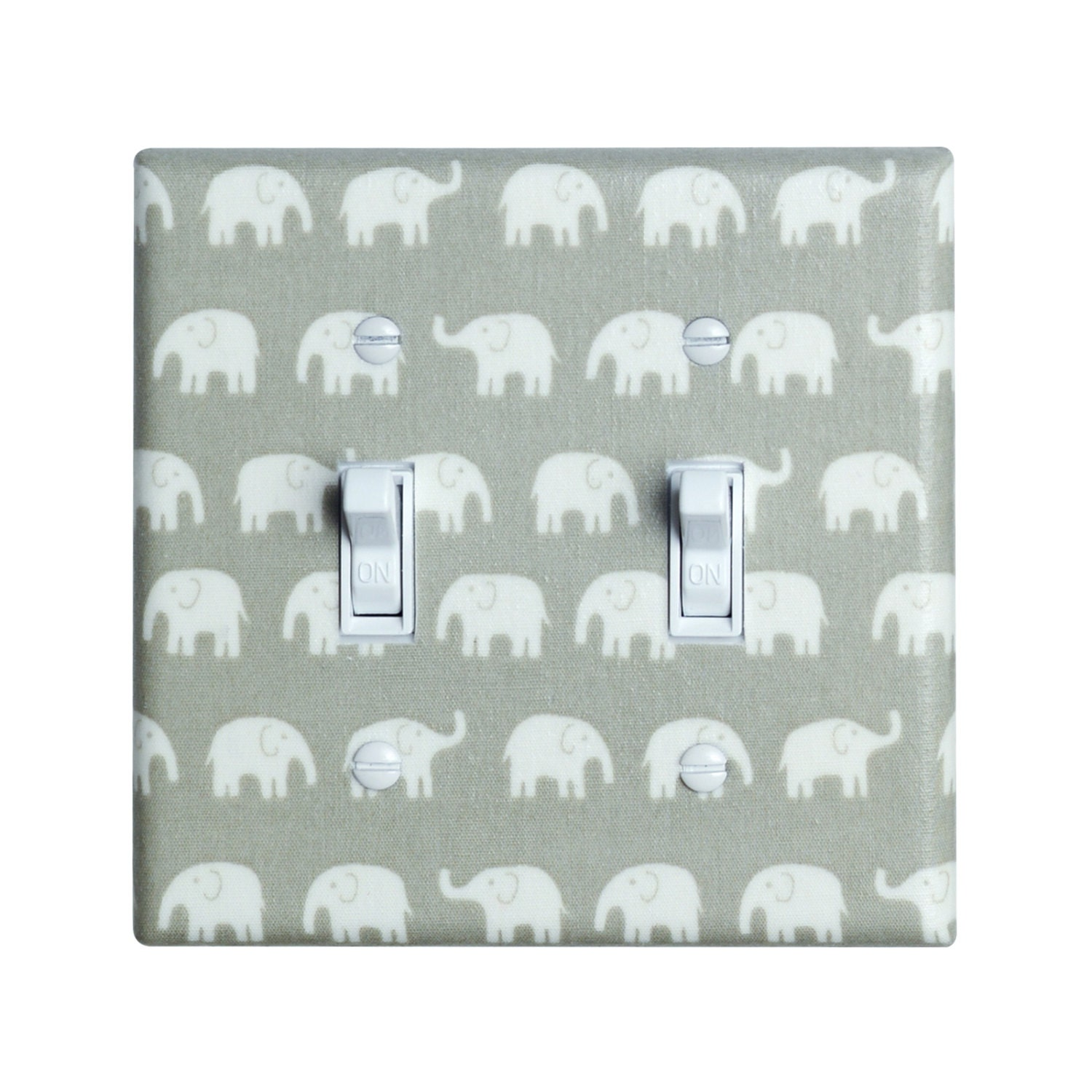 Gray Elephant Nursery Light Switch Plate Cover By Sskdesigns