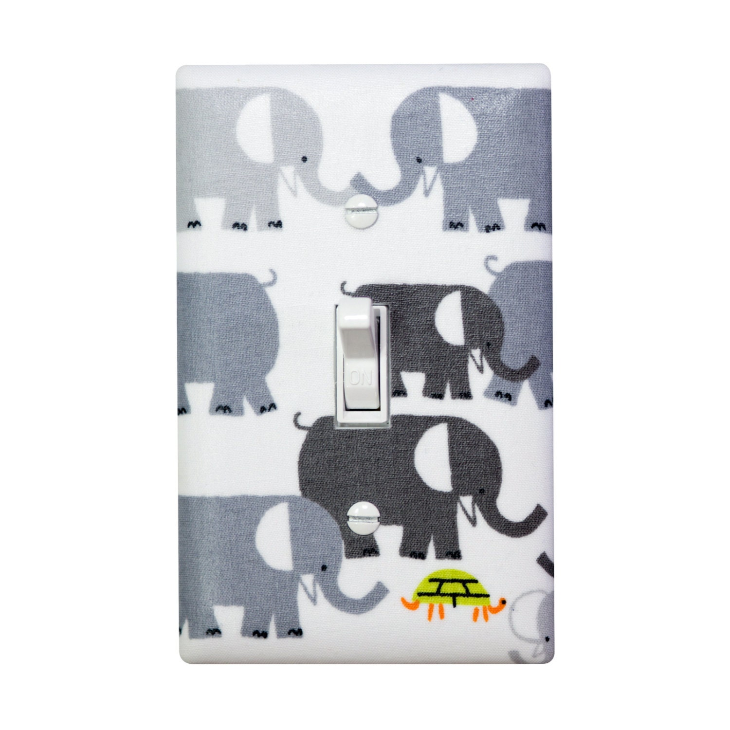 Elephant Light Switch Plate Cover Gray Baby Boy By