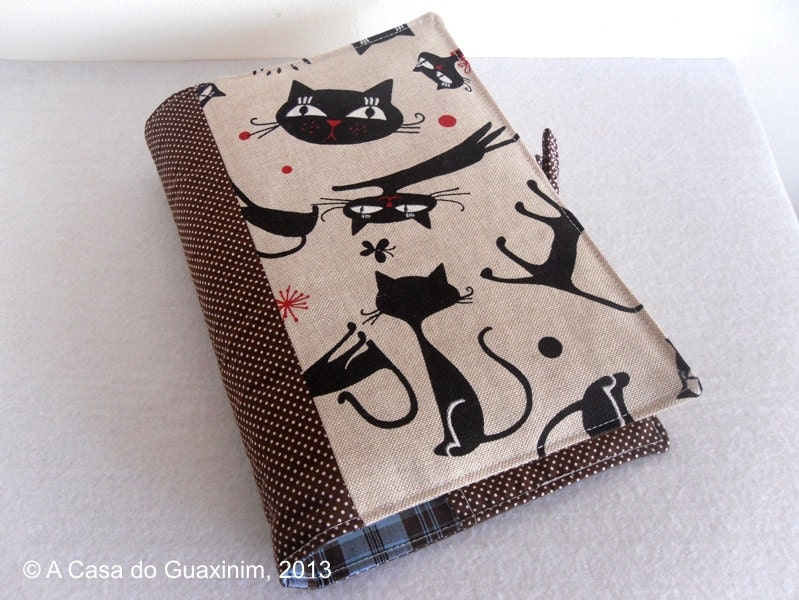 Fabric Book Cover Etsy : Fabric book cover