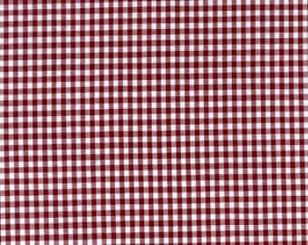 """60"""" Burgundy Gingham Check Fabric (1/8"""" check) 20 Yards By The Bolt"""