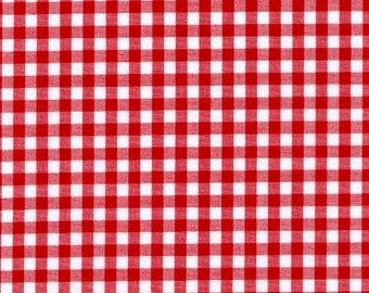 """Red Gingham Check Fabric (1/4"""" check) 20 Yards By The Bolt"""