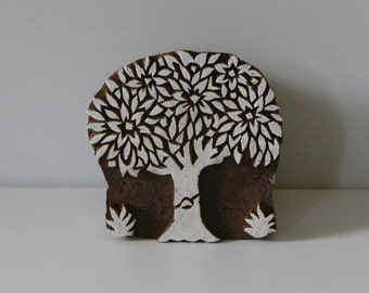 Tree Stamp - Hand Carved Wood Block Printing Stamp - India - Design 2