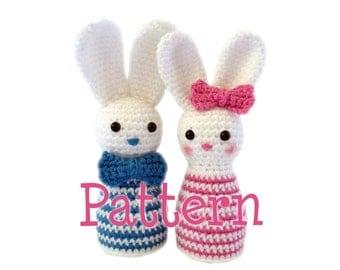 Crochet Easter Bunny Egg Cosy - Pattern