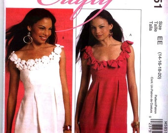 MISSES TRIMMED TUNICS McCalls  Crafty Pattern m5851 Sz 6-14 or 14-20Out Of Print Uncut Factory Folded