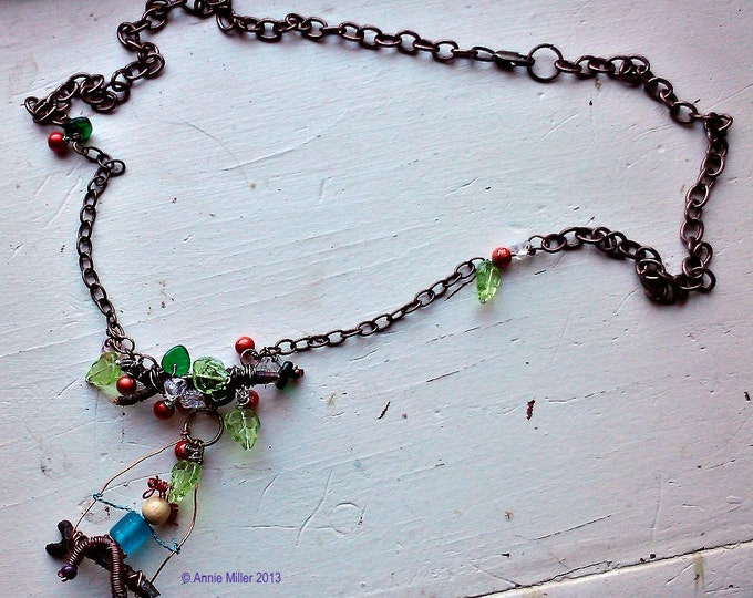 Apple Orchard Swinging Necklace