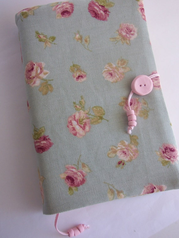 Fabric Book Covers Etsy : Fabric book cover floral by madameclochette on etsy