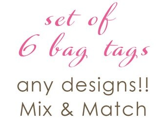 Luggage Tag | Set of 6 Personalized Bag/Luggage Tags | Choose from any design!!