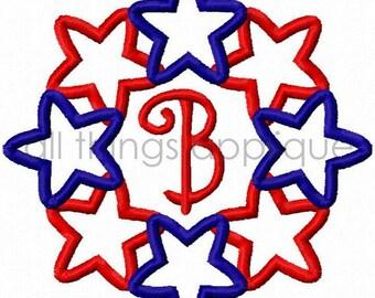 Linking Stars Embroidery Design- 4th of July Embroidery - INSTANT DOWNLOAD