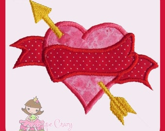 Heart Banner Applique design