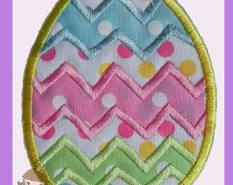 Chevron Easter Egg applique  design
