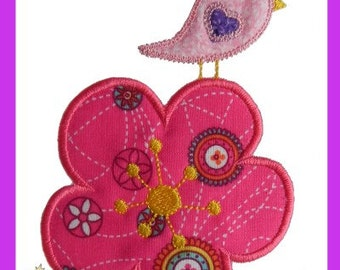 Lil' Birdie Applique design