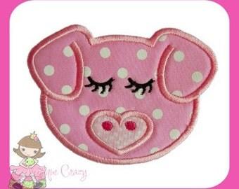 Girl Pig Applique design