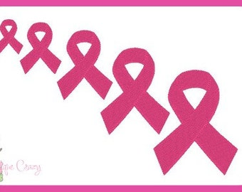 Awareness Ribbon Embroidery filled design  .05x.05  1x1  2x2