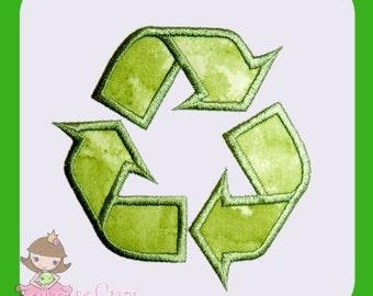 Recycle symbol Applique design