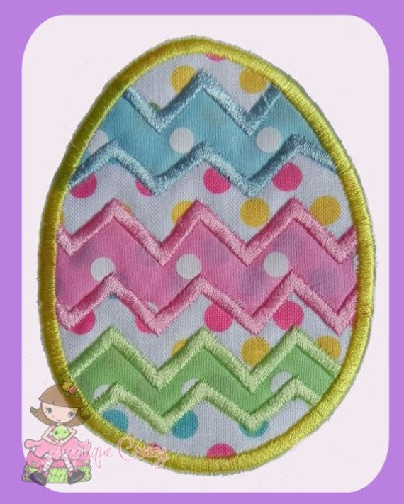 Chevron Easter Egg applique  design