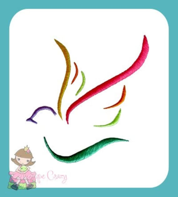 Dove embroidery design design