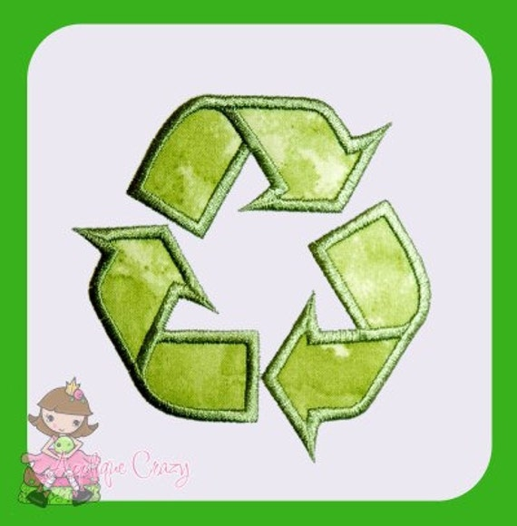 Recycle symbol Applique design