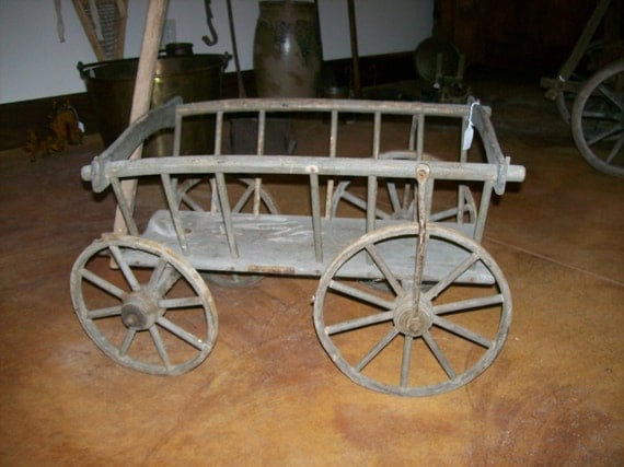 Reserved For Carmel Antique Farm Wagon Small Goat Harvest