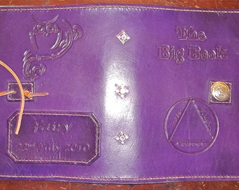 Alcoholics Anonymous Big Book Leather cover