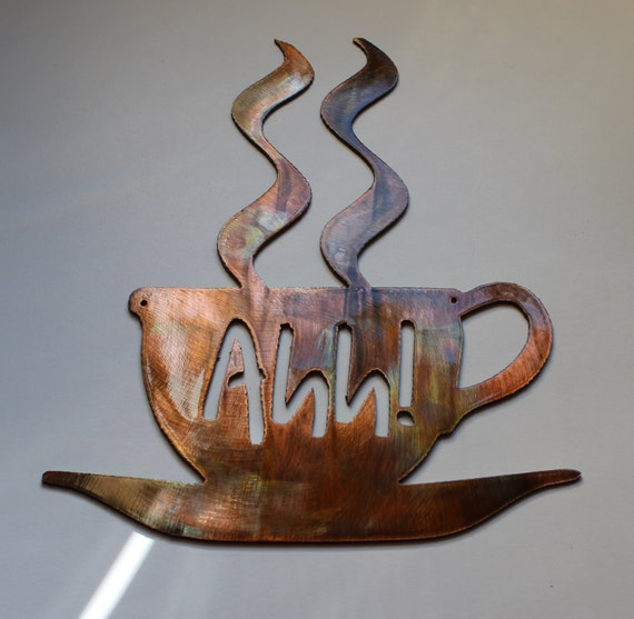 Coffee Cup Copper And Bronze Plated Metal By