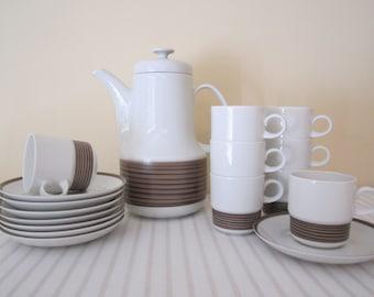 RETRO ARZBERG coffee, tea set - 18 pieces, German porcelain, pattern 711
