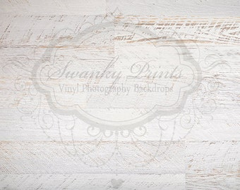 4ft x 3ft Vinyl Photography Backdrop for Accessories / White Textured Wood