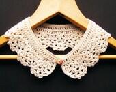 Cream Crochet Cotton Collar