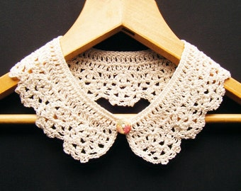 Cream Crochet Cotton Collar
